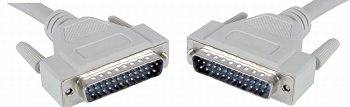 5 metre DB25 Male to DB25 Male printer port cable